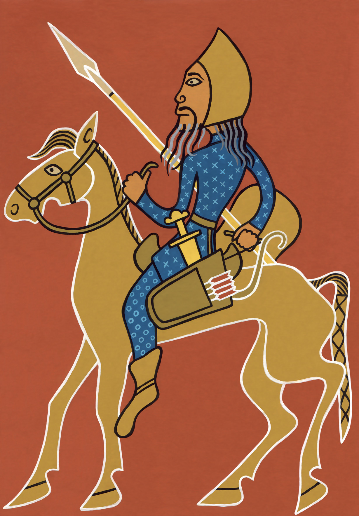 The reconstructed portrait of Attila the Hun