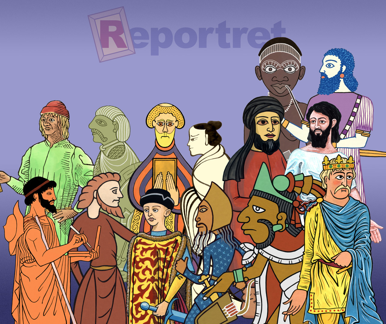 The group portrait of Reportret